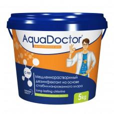Химия для бассейна Дезинфектант для бассейна на основе хлора длительного действия AquaDoctor C-90T, 5 кг