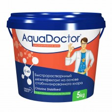 Химия для бассейна Дезинфектант для бассейна на основе хлора быстрого действия AquaDoctor C-60, 1 кг