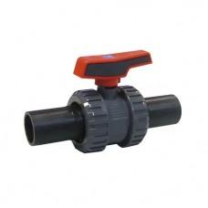 Кран шаровой ПВХ CEPEX серия STD (уплотнение шара PE, остальные EPDM), окончания ПЭ для стыковой/электромуфтовой сварки (для труб ПЭ) D75, PN10