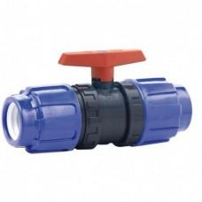 Кран шаровой ПВХ CEPEX серия STD (уплотнение шара PE, остальные EPDM), компрессионные муфтовые окончания (для труб ПЭ) D50, PN10