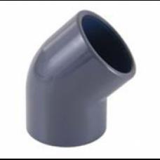 Отвод 45º ПВХ CEPEX (клеевой редукционный, муфтовое-втулочное окончание) d 50 x 50 - 40, PN16