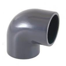 Отвод 90º ПВХ CEPEX (клеевой редукционный, муфтовое-втулочное окончание) d 50 x 50 - 40, PN16