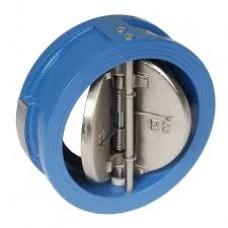 Двустворчатый обратный клапан, створки из нерж. стали, ДУ 100