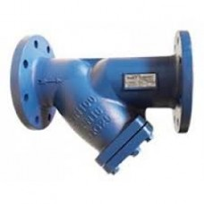 Фланцевый чугунный сетчатый наклонный фильтр, ДУ 100