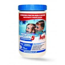 Химия для бассейна Hth Многофункциональные таблетки стабилизированного хлора 5 в 1, 20 гр. 1,2 кг