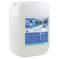Химия для бассейна Жидкий рН минус Aqualeon, канистра 35 кг (30л)
