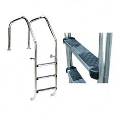 Лестница Overflow 1000 с 1 ступ. Luxe + 1 ступ. безопасности, AISI-316