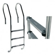 Лестница Mix с 2 ступеньками Standart, AISI-304