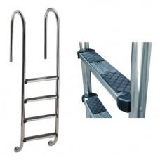 Лестница Wall с 4 ступеньками Luxe, AISI-316