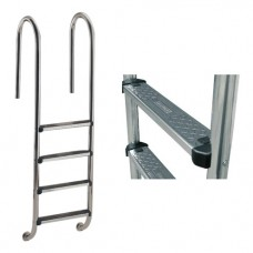Лестница Wall с 3 ступеньками Standart, AISI-304