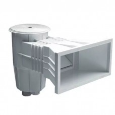 Скиммер 17.5 л. с широким, удлиненным раструбом, круглая крышка, ABS-пластик, для бетонных бассейнов