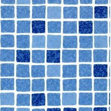 ПВХ-покрытие Astralpool 160 Supra, армированное, с акриловым покрытием и рисунком, цвет мозаика синяя 1123/1, 1,6 мм, ширина 1,65 м