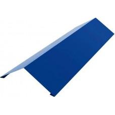 Крепежная жесть уголок внешний, цвет синий, размер 70x30x2000 мм
