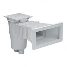 Скиммер 15 л. с широким раструбом, для бетонных бассейнов, квадратная крышка, ABS-пластик