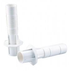Закладная труба, задний наружный диаметр 63 мм., внутренний диаметр 50 мм., ABS-пластик, бетонный басс. (белый)