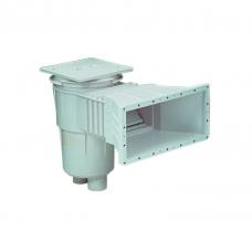 Скиммер 15 л. с широким раструбом, для пленочных бассейнов, квадратная крышка, ABS-пластик
