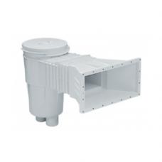 Скиммер 17.5 л. с широким и удлиненным раструбом, круглая крышка, ABS-пластик, для пленочных бассейнов