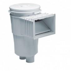 Скиммер 17,5 л. со стандартным раструбом, для бетонных бассейнов, круглая крышка, ABS-пластик