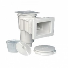 Скиммер 17,5 л. со стандартным раструбом, для бетонных бассейнов, квадратная крышка, ABS-пластик