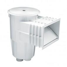 Скиммер 15 л. со стандартным раструбом, для бетонных бассейнов, круглая крышка, ABS-пластик