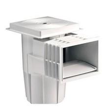 Скиммер 15 л. со стандартным раструбом, для бетонных бассейнов, квадратная крышка, ABS-пластик