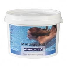 Химия для бассейна Мультихлор для жесткой воды 1 кг